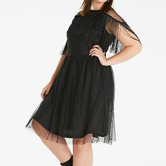 9cc3f07384d Simply Be Fringe Detail Dress Plus Size 16